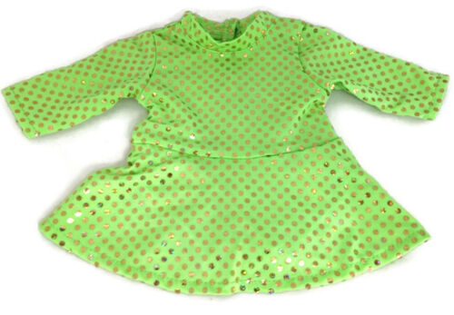 Green Sequin Skating Dress /& Earmuffs Doll Clothes fits 18 inch American Girl
