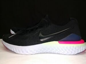 🔥NEW Nike Epic React Flyknit 2 Black Sapphire AQ3243-003 Youth US 5Y Running