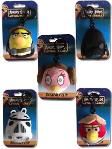 Angry-Birds-STAR-WARS-Back-pack-Bag-Clips-Han-Solo-LEIA-Skywalker-VADER