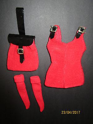 (14) Antico Tre Pezzi Outfit Barbie Con Etichetta Mattel Overall + Calze + Borsa-fe+tasche It-it Mostra Il Titolo Originale Essere Accorti In Materia Di Denaro