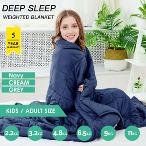 Weighted-Blanket-Deep-Relax-Sleeping-Gravity-for-Adult-Men-Women-Kid-9-7-5-11KG