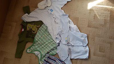 **6**teile Gr 62 68 Mütze Schlafanzug Shirt Jacke Strampler, T Shirt Den Speichel Auffrischen Und Bereichern
