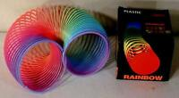4 Rainbow Magic Spring Coil Moving Crawling Snake Vintage Toy Classic Novelty