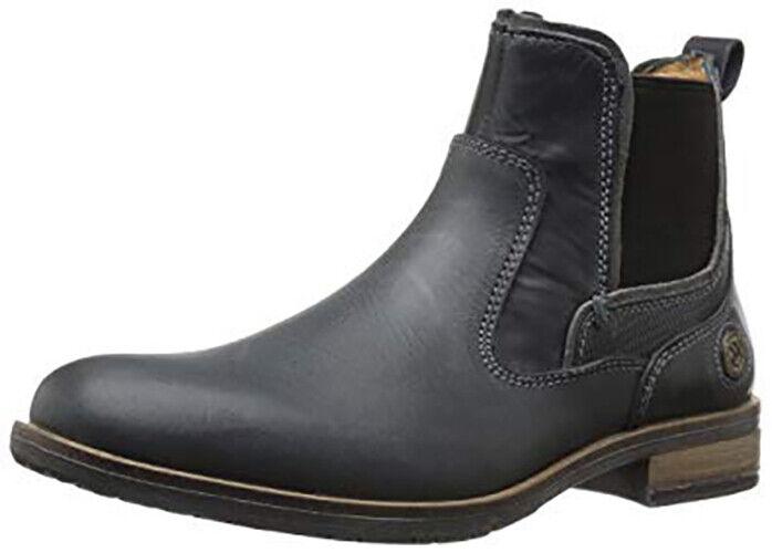 Steve Madden Para Hombres Chelsea bota, Negro Cuero nockdwn, 9.5 M US
