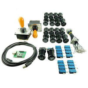 Kit-Joystick-COREANO-Arcade2-jugador-Pera-Botones-Americanos-Negro-Mame-USB