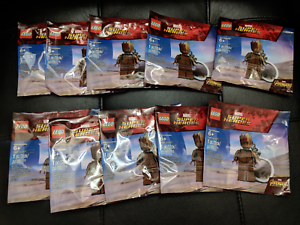 LOT OF 10- 2018 LEGO 5005244 Marvel Super Heroes Teen Groot Keychain Polybag New