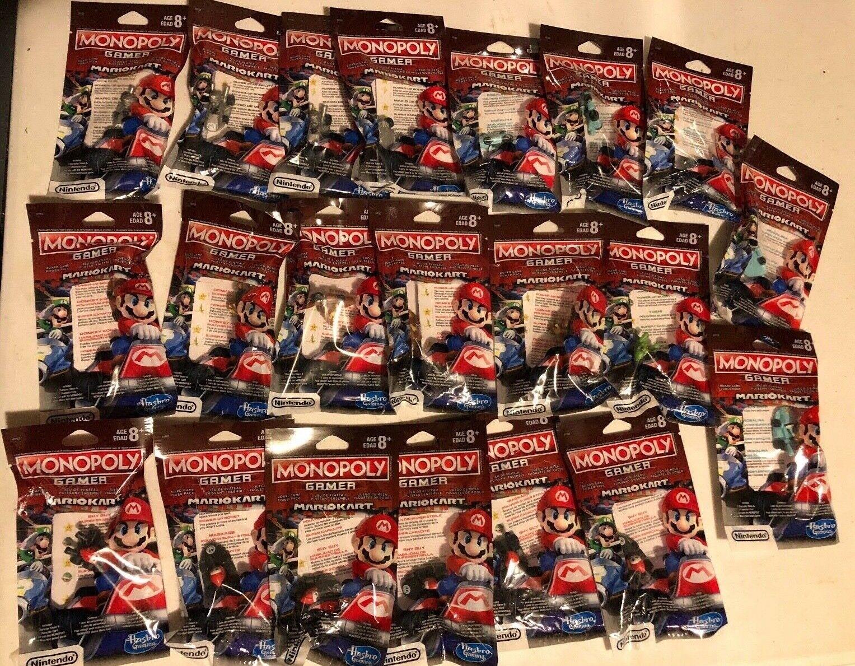 Gran Lote De 21 figuras de juego Monopolio Mario  Yoshi, Mario, DK, melocotón, Ghost