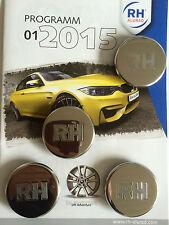 RH Hub caps ZW1 ZW3 etc. 65mm Stainless steel polished NEW !  1set = 4 pieces !!