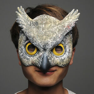 Scary-Latex-Half-Face-Owl-Halloween-Mask-Masquerade-Party-Costume-Cosplay-Props
