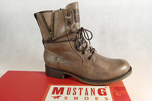 Mustang-Botines-Botas-de-Cordon-Botas-Gris-Topo-1139-Nuevo