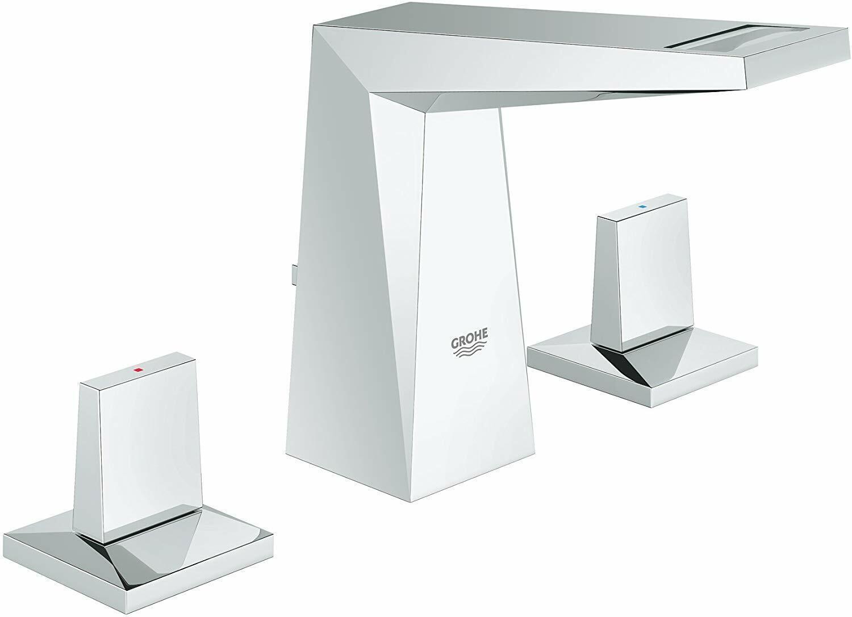 Grohe Allure Brilliant 20342000 de tres orificios para lavabo Grifo-Talla M-Nuevo