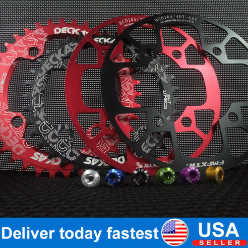 32-38t 104BCD Narrow Wide Chainring MTB Road Bike Round Oval Chainring Guard CNC
