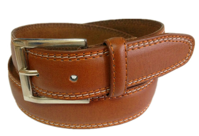 MEN CASUAL /DRESS LEATHER BELT Light Brown S / M / L / XL $5.95 Free Shipping