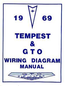 1969 69 gto tempest wiring diagram manual ebay rh ebay com MGB Fuse Box Diagram MGB Fuse Box Diagram