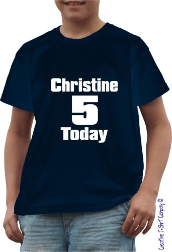 PERSONALISED CHILDS BIRTHDAY PARTY T-SHIRT AGES 1-13 JUST ADD NAME AND NUMBER