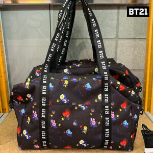 BTS-BT21-Official-Authentic-Goods-Space-Squad-Pattern-Duffel-Bag-Tracking-Nu