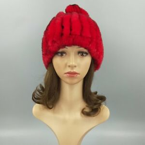 9a17ae2e0c67d Mink Fur Hat Women Winter Fluffy Knitted Cap Warm Skiing Pineapple ...