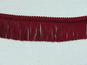 "6/"" Burgundy Chainette Fringe Trim PLUS French Gimp Trim ~ 4 YARDS or More"