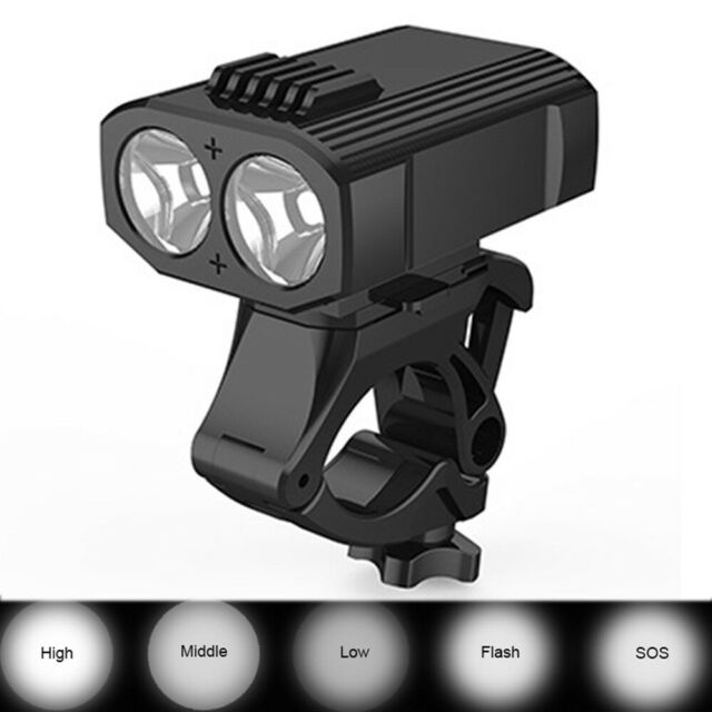 Outdoor Led USB Rechargeable Bike Flashlight Front Lamp Headlight Bicycle Light_
