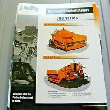 Factory Oem Dealership Brochure Leeboy 700 Tilt Hopper Paver Asphalt