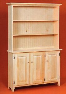 AMISH Unfinished Solid Pine Rustic SIDEBOARD Buffet Storage