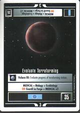 STAR TREK CCG WHITE BORDER PREMIERE 1995 BETA RARE CARD EVALUATE TERRAFORMING