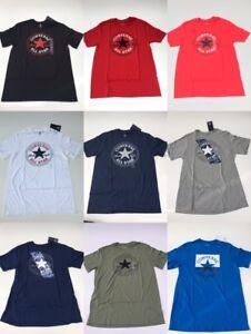 Detalles de Para Hombre Converse S 3XL All Star Chuck Taylor Cuello Redondo Gráfico Atlético Fit Camiseta ver título original