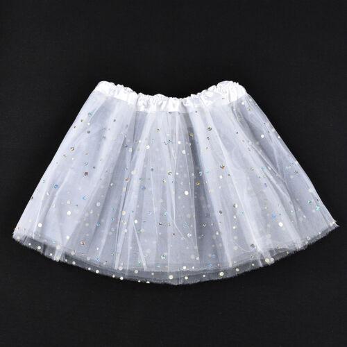 Baby Girls Kids Dance Fluffy Tutu Skirt Pettiskirt Ballet Dress Up Fancy Costume