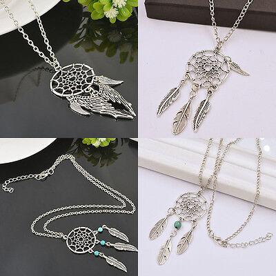 HOT Fashion Retro Dream Catcher Tibetan Silver Pendant Chain Necklace Jewellery