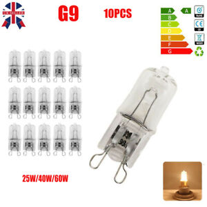 10Pcs G9 Halogen Bulbs ECO 60W 40W 25W Capsule 240V Warm White Replacement Lamp