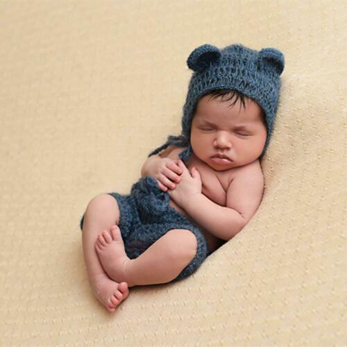 Newborn Baby Girls Boys Cute Crochet Knit Costume Prop Outfits Photography