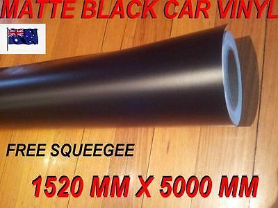 OZ Matte matt Black Car Vinyl Wrap,Roll,Sticker 1520mm x 5000mm,Squeege,FREE 1 M