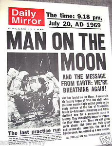 Daily-Mirror-quotidiano-Apollo-11-uomo-sulla-luna-Star-Treck-Ward-U-C