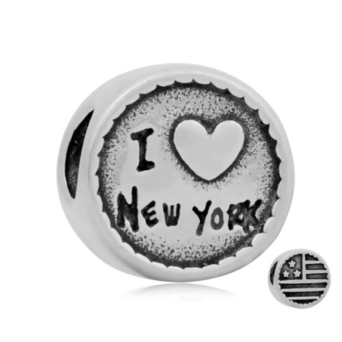 """GESCHENK ANDANTE-STONES ORIGINAL SILBER BEAD LIEBE USA /""""I Love New York/"""" #3488"""