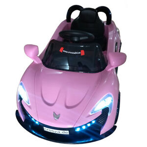 roadster mit 2x motoren mp3 led elektro kinderauto kinder auto elektroauto rosa ebay. Black Bedroom Furniture Sets. Home Design Ideas