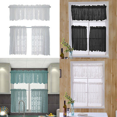Bathroom Voile Lace Lucy Curtains Slot Top Net Plain Short Curtain Kitchen Panel