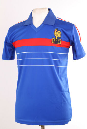 FRANCE EURO 84 1984 RETRO BLEU PLATINI MAILLOT DE FOOTBALL GRAND LARGE L