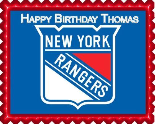 Edible Cake Topper OR Cupcake Topper New York Rangers Decor
