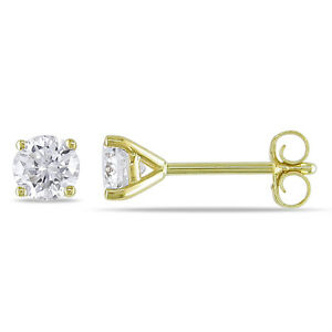2-mm-Round-Diamond-Tiny-Stud-Earrings-10k-Yellow-gold-Gift-box-incl
