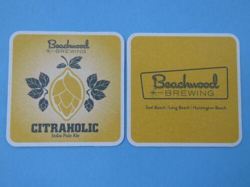 BEER Coaster /<*/> BEACHWOOD Brewing Co Citraholic IPA ~/</>~ Long Beach CALIFORNIA
