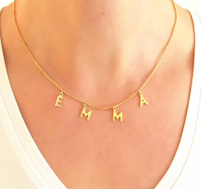 Personalized-Initial-Letter-Name-Necklace-Pendant-Choker-Custom-Women-Jewelry