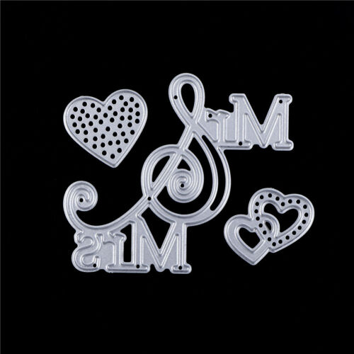 Mr/&Mr Love Metal Cutting Dies Stencil for DIY Paper Cards Scrapbooking Decor Pip