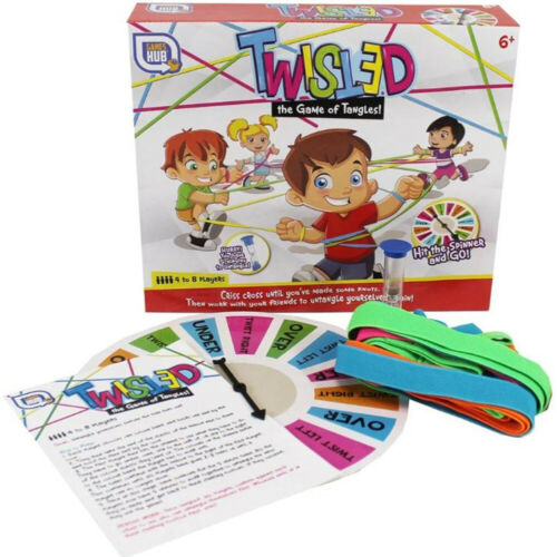 Twisted Game of Tangles Fun Family Games Criss Cross noeuds hilarant Teamwork *