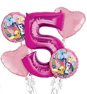 "18"" Amscan Happy 5th Birthday Foil Helium Balloon"