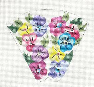 Strawberry Scissor Case handpainted Needlepoint Canvas by Silver Needle