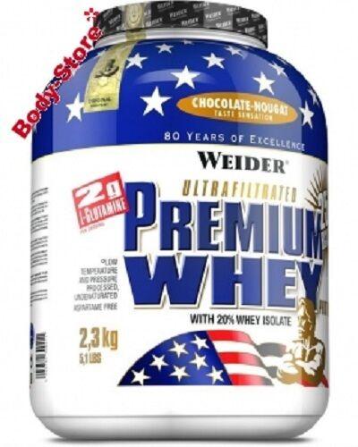 (  kg) Weider Premium Whey Protein 2300g Dose 2,3 kg Eiweiss PLUS SHAKER