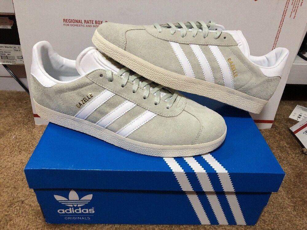 Neue weiße adidas gazelle aus grün - weiße Neue gold größe 11 bz0023 c21523