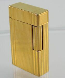 Energisch Vintage Feuerzeug - S.t. Dupont - Vergoldet Vertrieb Von QualitäTssicherung