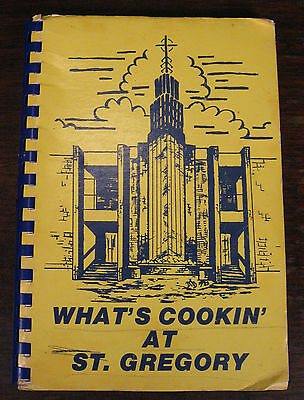 Vintage Church Cookbook St Gregory Church St Ann Missouri MO What's Cookin At