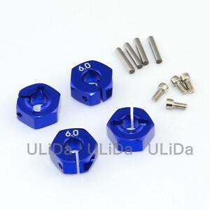 4PCS RC Aluminum 5.0 Wheel Hex 12mm Drive Pins and Screws for 1//10 RC Car